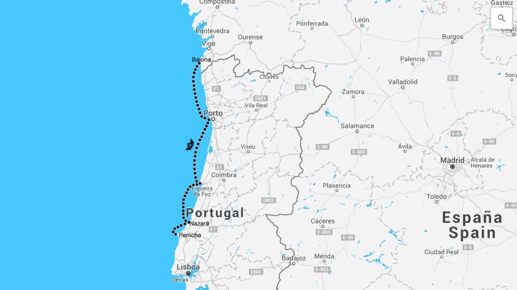Porto Portugal Karte.Portugal Nazare Karte Kleve Landkarte